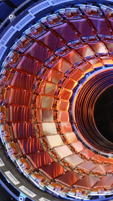 360x640 Wallpaper hadron collider, accelerator, particles