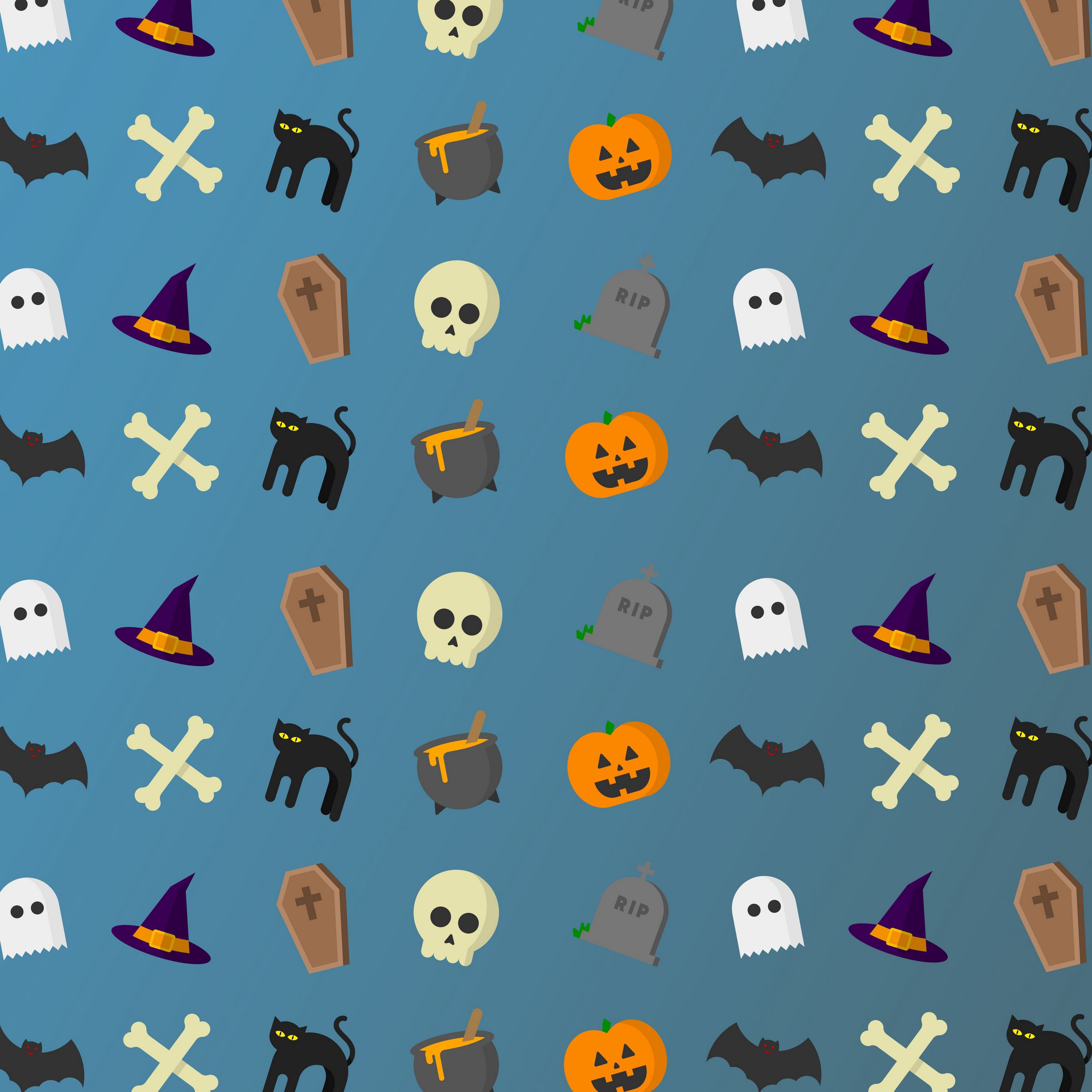 Download Wallpaper 2780x2780 Halloween Art Holiday Ipad