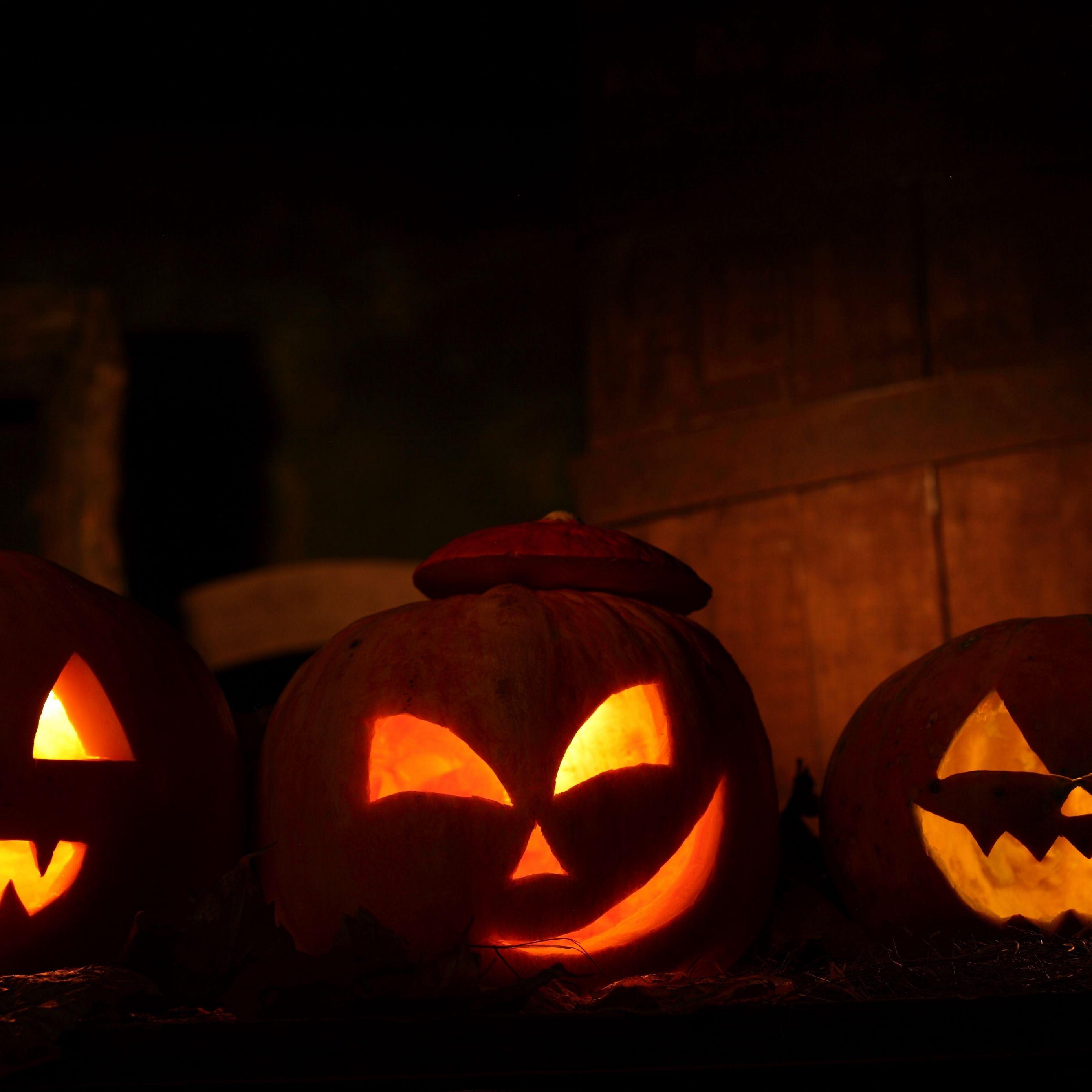 Must see Wallpaper Halloween Ipad Mini - halloween_holiday_night_pumpkin_three_63754_2780x2780  Image_628354.jpg