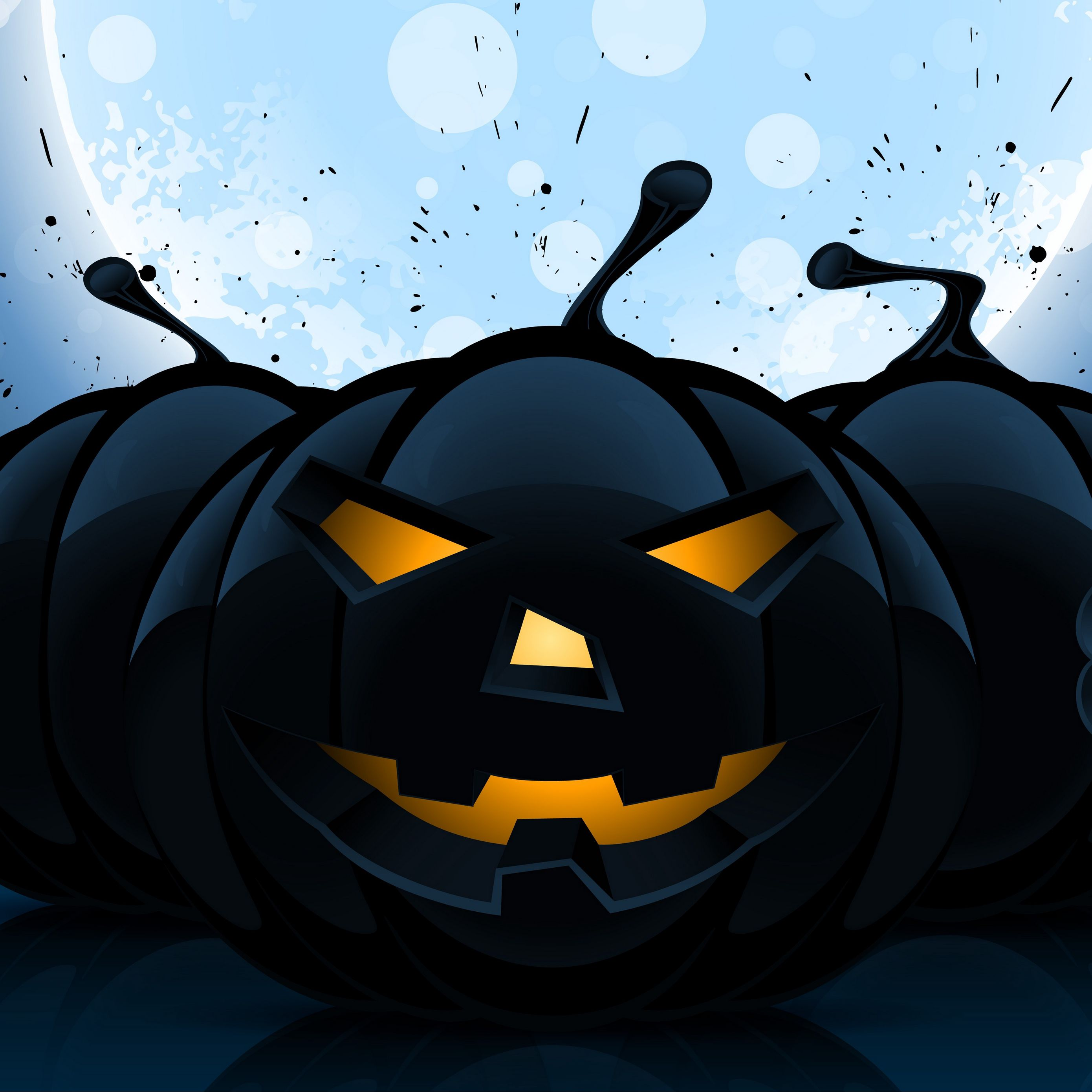 2780x2780 Wallpaper halloween, pumpkin, pattern, dark