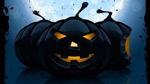 Preview wallpaper halloween, pumpkin, pattern, dark
