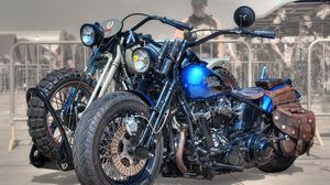 Preview wallpaper harley-davidson, bike, motorcycle, style, bikers