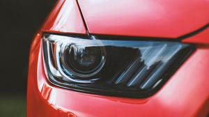 Preview wallpaper headlight, car, red, front view