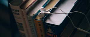 Preview wallpaper headphones, books, education