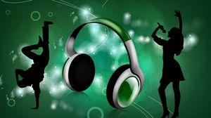 Preview wallpaper headphones, boy, girl, dance, singer, break dance