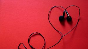Preview wallpaper headphones, music, heart, headset