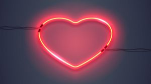 Preview Wallpaper Heart Backlight Neon