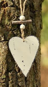 Preview wallpaper heart, bark, tree, love