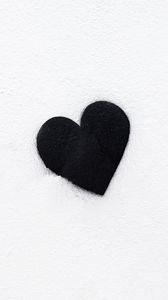 Preview wallpaper heart, bw, love, black, white, minimalism
