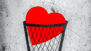 Preview wallpaper heart, love, sad, street art, art
