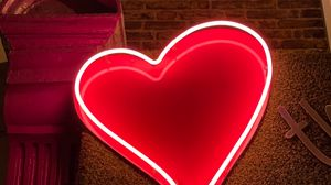 Preview wallpaper heart, neon, light, red, love
