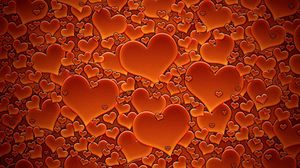 Preview wallpaper heart, red, texture, many