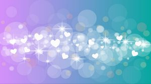 Preview wallpaper hearts, circles, glitter, gradient