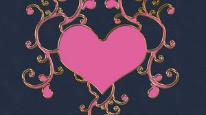 Preview wallpaper hearts, patterns, pink, light