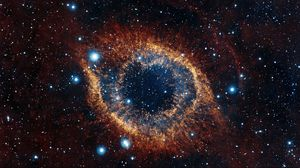 Preview wallpaper helix nebula, space, stars, explosion, brilliance
