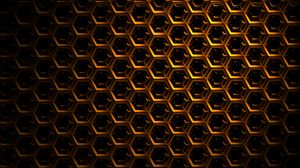 Preview wallpaper hexagons, mesh, dark, shadows