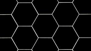 Preview wallpaper hexagons, mesh, texture, black