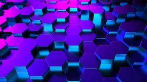 Preview wallpaper hexagons, shape, rendering, highlighting