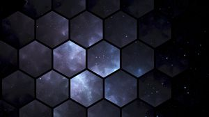 Preview wallpaper hexagons, space, patterns
