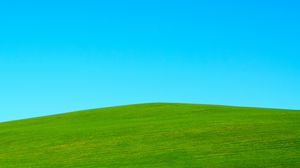 Preview wallpaper hill, lawn, sky, minimalism