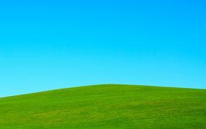Preview wallpaper hill, lawn, sky, minimalism