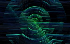 Preview wallpaper hologram, circles, glitch, interference, digital