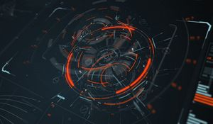 Preview wallpaper hologram, scheme, sci-fi, digital, circles, lines, elements
