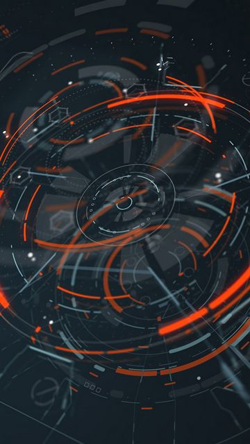 360x640 Wallpaper hologram, scheme, sci-fi, digital, circles, lines, elements