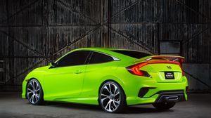Preview wallpaper honda, civic, concept, green, 2015