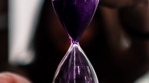 Preview wallpaper hourglass, glass, sand, time, hands