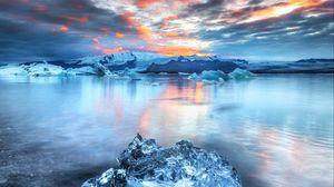 Preview wallpaper iceberg, floe, ice, lake