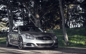 Preview wallpaper infiniti, g37, supercar, car, side view