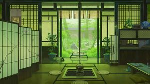 Preview wallpaper interior, japan, art, window, view