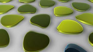 Preview wallpaper island, green, blue, shape, glass