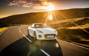 Preview wallpaper jaguar f-type, jaguar, sports car, supercar, sunlight