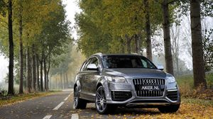 Preview wallpaper jeep, grey, metallic, q7, gray, audi