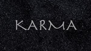 Preview wallpaper karma, inscription, sand, boomerang, cause, effect