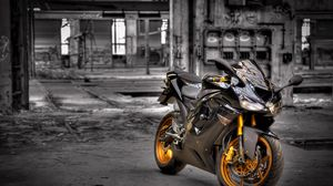 Preview wallpaper kawasaki zx6-r, motorcycle, background