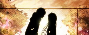 Preview wallpaper kimi ni todoke, girl, boy, love, feelings, meet, date, fall, leaves