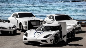 Preview wallpaper koenigsegg, mercedes-benz, rolls royce