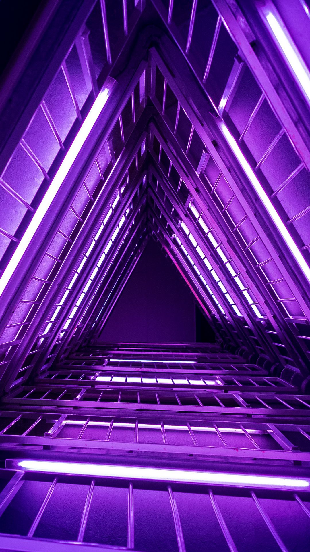 1080x1920 Wallpaper ladder, purple, light