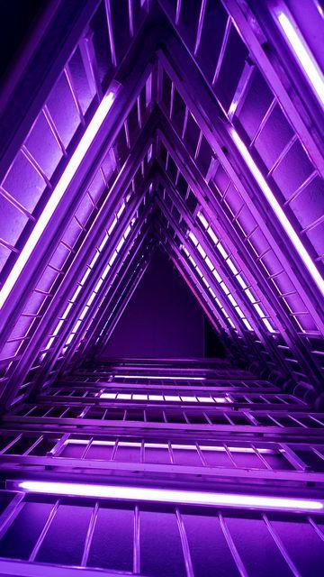 360x640 Wallpaper ladder, purple, light