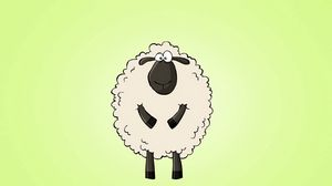 Preview wallpaper lamb, graphic, curls