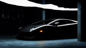 Preview wallpaper lamborghini, aventador, lp700-4, black