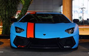 Preview wallpaper lamborghini, aventador, lp700-4, blue, supercars, exotic