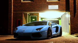 Preview wallpaper lamborghini, aventador, lp700-4, front view