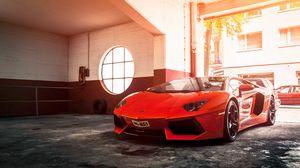 Preview Wallpaper Lamborghini Aventador Lp 700 4 Red