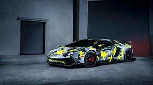 ... Preview wallpaper lamborghini, aventador, lp-750-4, sv