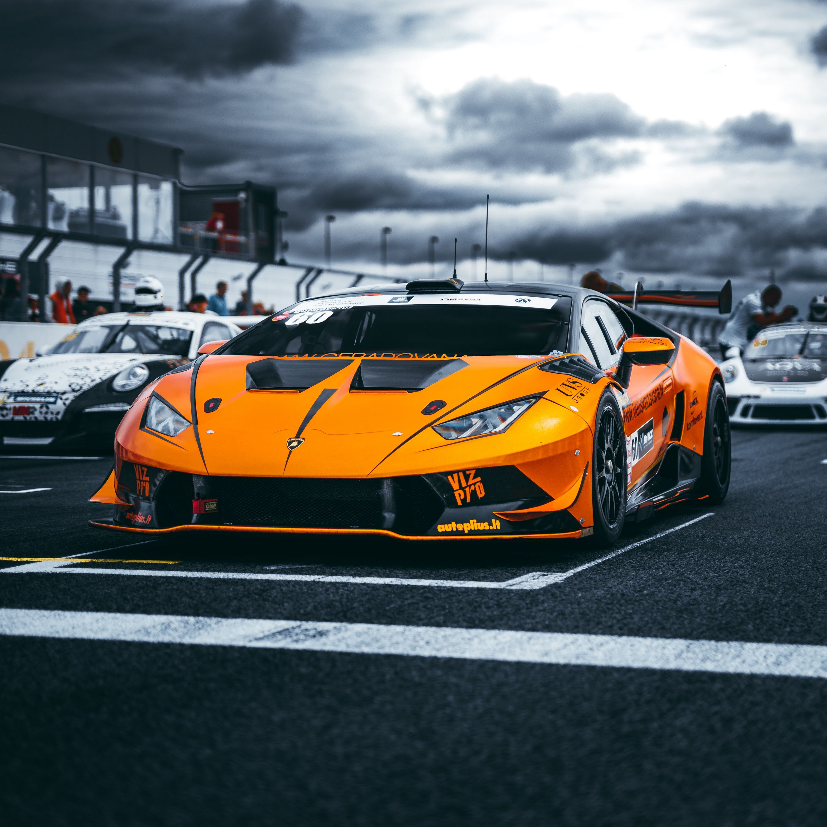 2780x2780 Wallpaper lamborghini, car, sports car, orange, racing
