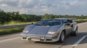 Preview wallpaper lamborghini, countach, lp500s, movement, speed
